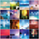 Collection of blurred colorful abstract backgrounds Royalty Free Stock Photo