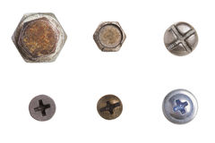 The collection of bolts Royalty Free Stock Images