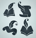 Collection of  book symbols Royalty Free Stock Image