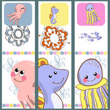 A collection of bookmarks characters with images of animals Stock Photo