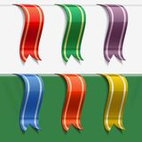 Collection of bookmarks Royalty Free Stock Images