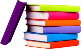Stack of blank textbooks - isolated image. Collection books background nobody paper closeup texture Vector Illustration