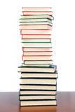 Collection of books stacked stock image