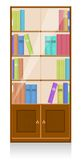 Collection of books in a wooden bookshelf Royalty Free Stock Photo