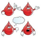 Bored blood drop set Royalty Free Stock Image