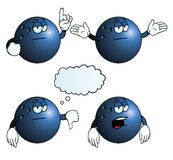 Bored bowling ball set Stock Photos