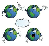 Bored Earth globe set Stock Photography