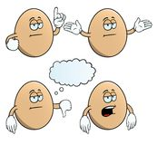 Bored egg set Royalty Free Stock Photography