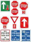 Collection of Botswana Road Signs. Collection of informational Botswana road signs Stock Images