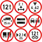 Collection of Botswana Road Signs. Collection of Botswana regulatory road signs Stock Image