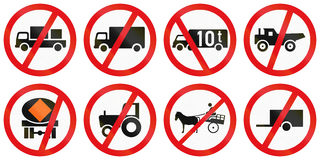 Collection of Botswana Road Signs vector illustration