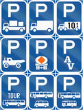 Collection of Botswana Road Signs. Collection of Botswana regulatory road signs stock illustration