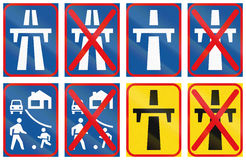 Collection of Botswana Road Signs Royalty Free Stock Photography
