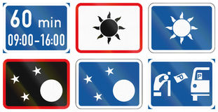 Collection of Botswana Road Signs Royalty Free Stock Images