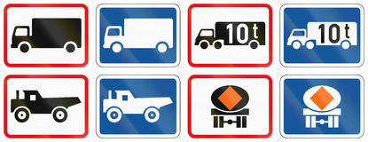 Collection of Botswana Road Signs Royalty Free Stock Image