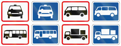 Collection of Botswana Road Signs Royalty Free Stock Photo