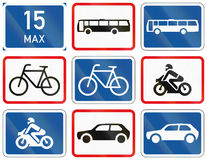 Collection of Botswana Road Signs Stock Image