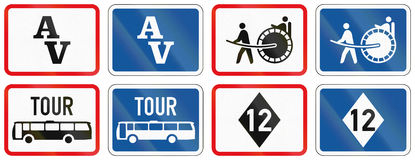 Collection of Botswana Road Signs. Collection of Botswana regulatory road signs Royalty Free Stock Photo