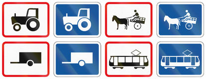Collection of Botswana Road Signs Stock Photos