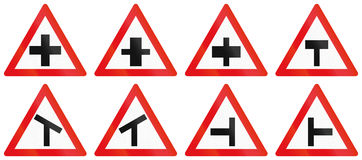 Collection of Botswana Road Signs Stock Images