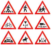 Collection of Botswana Road Signs Royalty Free Stock Photos