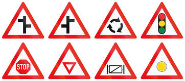 Collection of Botswana Road Signs Stock Photo