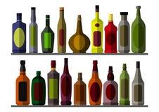 Collection bottle for alcoholic. Eps10  illustration.  on white background Stock Photos