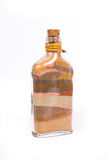 Collection bottle with colored sand Stock Images