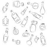Collection - bottles Royalty Free Stock Photos