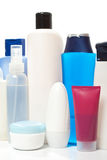 Collection of bottles of health and beauty Royalty Free Stock Image