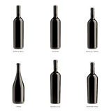 Collection of bottles of red wine Royalty Free Stock Images