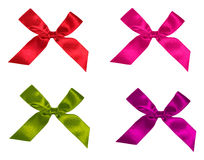 Collection bow of ribbon, isolated on white Royalty Free Stock Photo