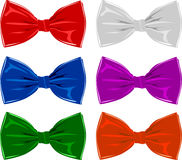 Collection of bow ties, isolated on white Royalty Free Stock Photography
