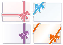 Collection of  bows with greeting cards Royalty Free Stock Photo