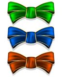 Collection bows Stock Photography