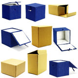 Collection boxes Royalty Free Stock Photo