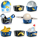 Collection of boxes - astronomy Stock Photography
