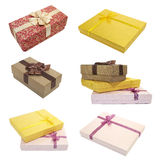 Collection boxes for gifts Stock Photos