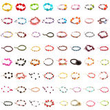Collection of bracelets on white background. Collection of bracelets isolated on white background Royalty Free Stock Photo