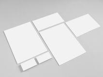 Collection of branding corporate design templates Stock Photos