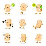 Collection of bread cartoon  illustration eps 10 Royalty Free Stock Image
