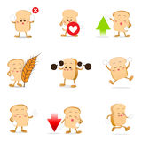 Collection of bread cartoon vector illustration eps 10 002 Stock Image