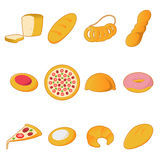 Collection of bread icons Royalty Free Stock Photography