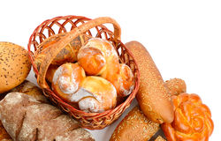 Collection of bread products Stock Photo