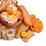 Collection of bread products Stock Images