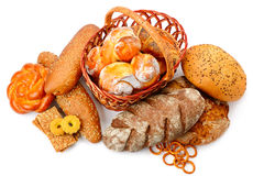 Collection of bread products Stock Image