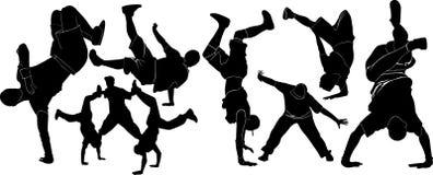 Collection breakdance break dance. breakdance break dance. Royalty Free Stock Photo