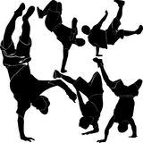 Collection breakdance Royalty Free Stock Images