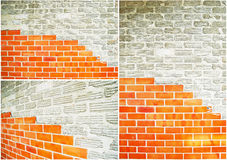 Collection of brick wall. Texture background royalty free stock image