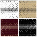 Collection of brick wall backgrounds - endless Royalty Free Stock Photography